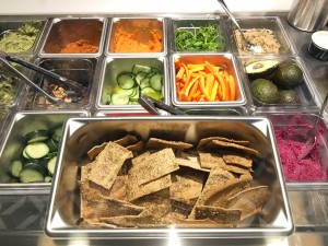 Fresh vegetables and homemade gluten crackers served at anar (photo credit: Logan Britt)